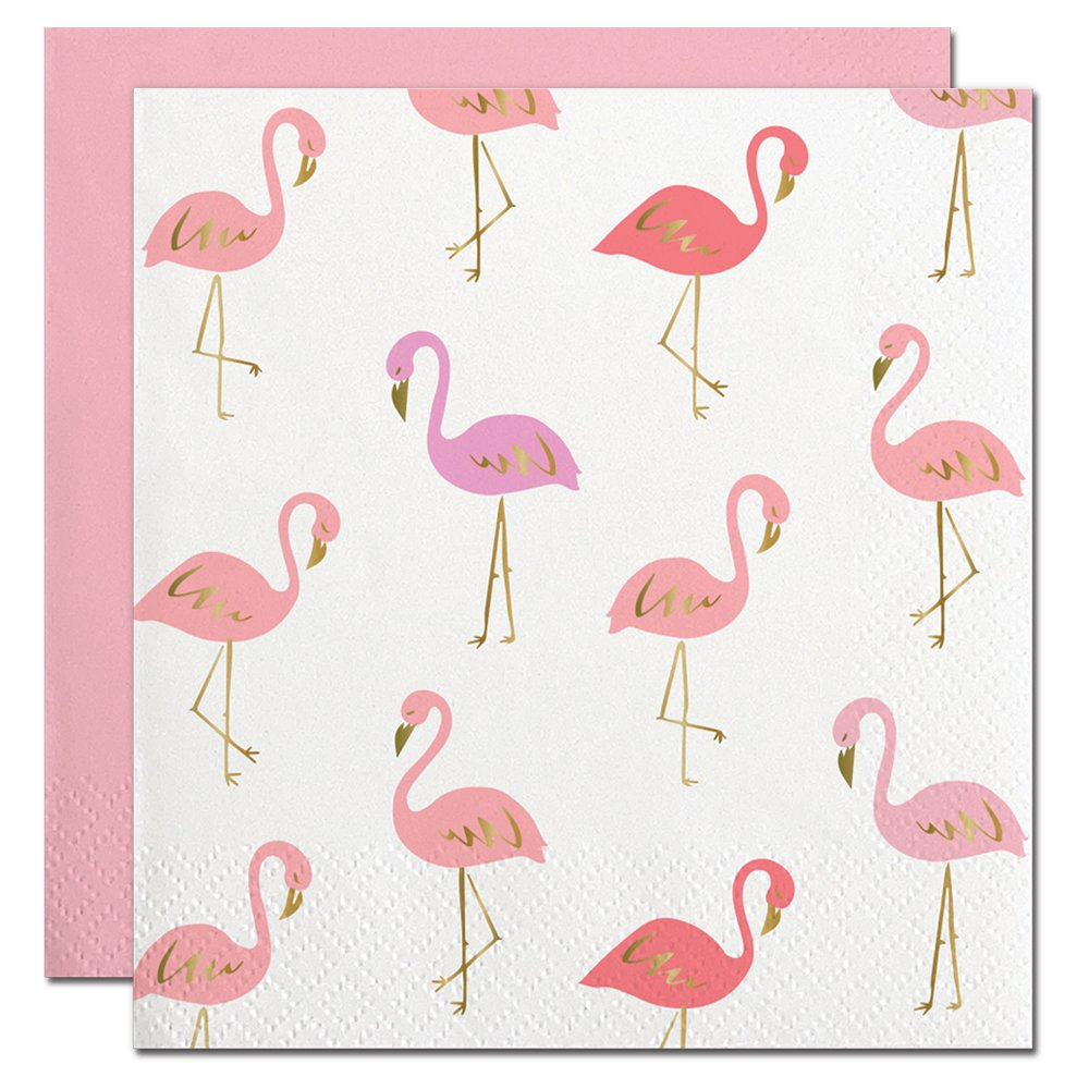 Amazon.com: Flamingo Themed Napkins (2 Packages of 20) Let\'s ...
