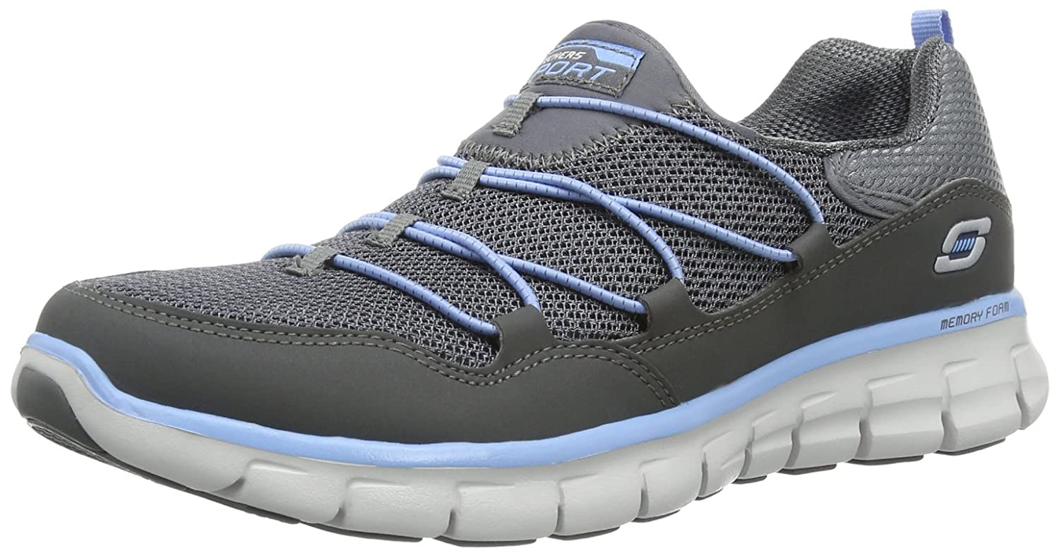 CHARCOAL blueE Skechers Sport Women's Loving Life Memory Foam Fashion Sneaker