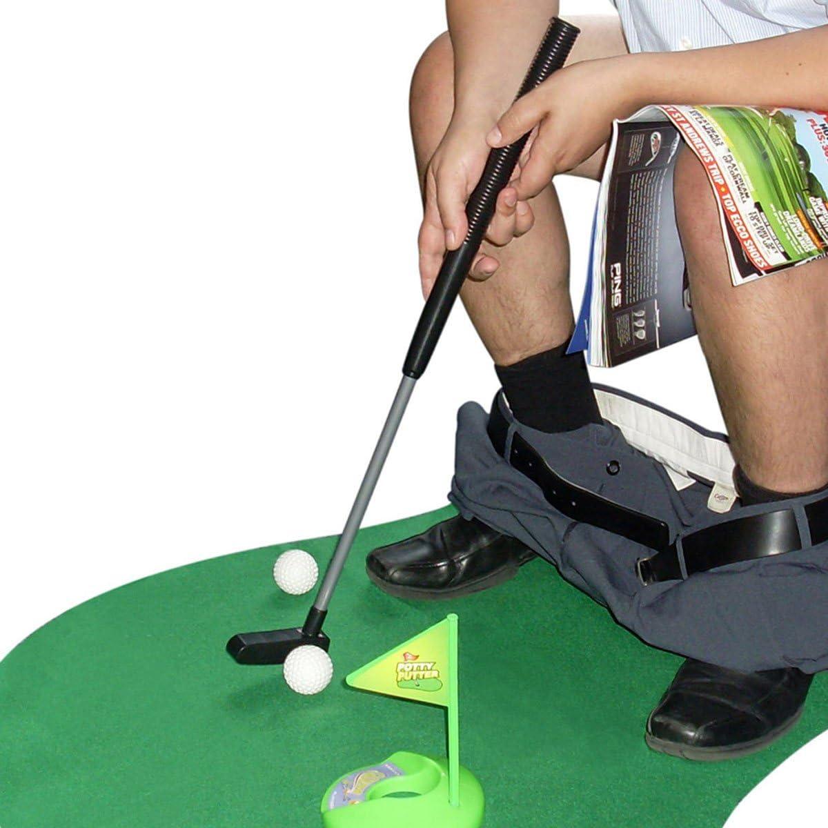 Juego de golf para el cuarto de baño, golf en el WC: Amazon.es: Hogar
