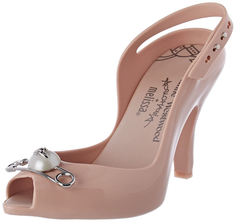 VIVIENNE WESTWOOD AND MELISSA Damen Vw Lady Dragon 19 Peeptoe Pumps Pink (Blush Pink)