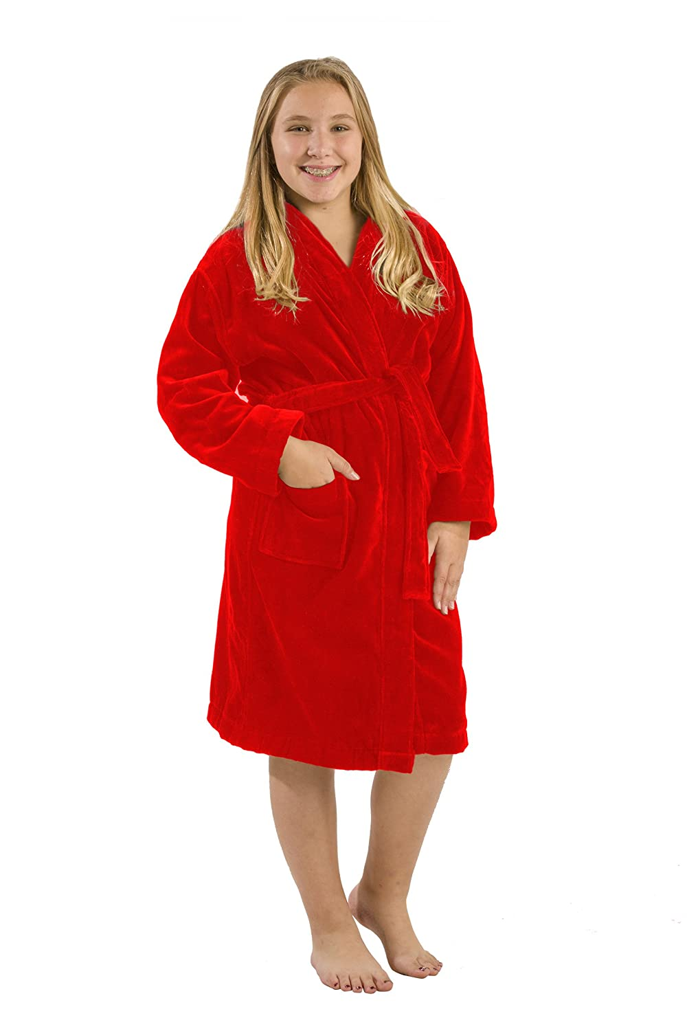 byLora Kids Terry Bathrobe Robe, Cotton Hooded Robes For Boy and Girl