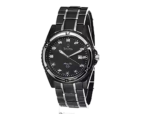 4af7eb098 Amazon.com: Bulova Men's 98D107 Marine Star Bracelet Mother of Pearl Dial  Watch: Bulova: Watches