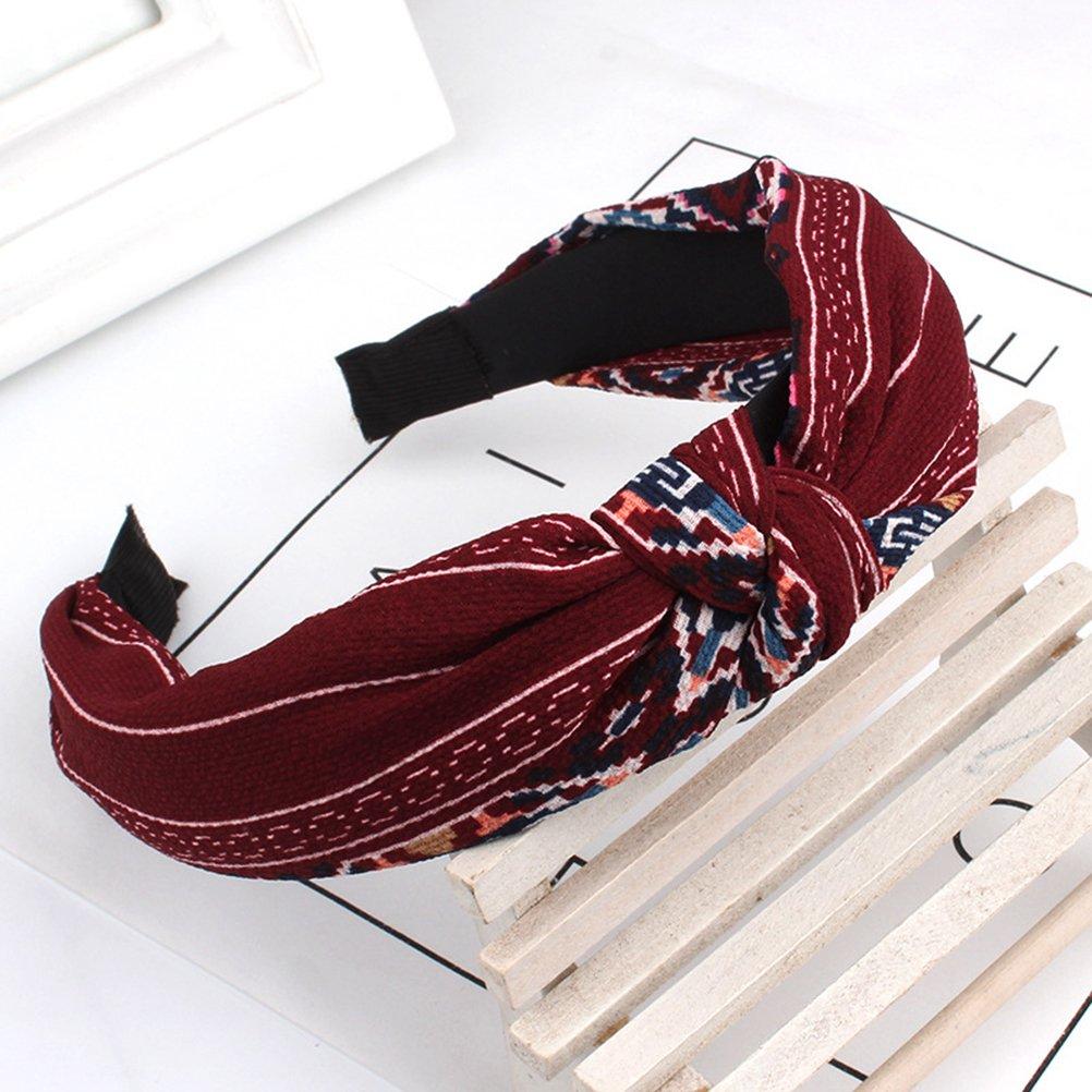 3 piezas vendas de la manera llano ancho Diadema de nudo turbante para mujeres ni/ñas Frcolor Diademas de pelo duro