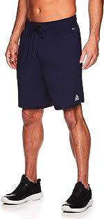 Reebok Men's Lightweight Workout Gym & Running Shorts w/Elastic Drawstring Waistband