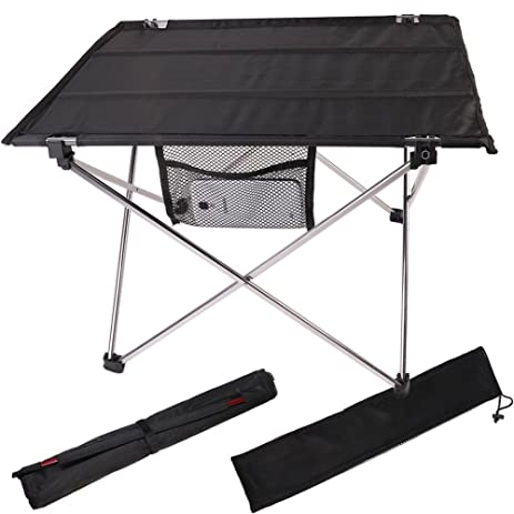 Portable Folding Table With Carrying Bag Silver Compact Lightweight Camping  Table In A Bag U2013 Small