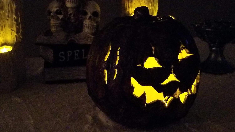 Undead Empire Wicked Gourd Scar 9 inch evil pumpkin Halloween decoration