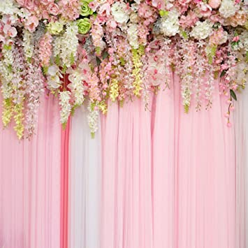 Huayi Photography Background Wedding Floral Flowers Wall Backdrop 3d Pink Backdrop Curtain For Parties Baby Shower Photo Booth Props Photo Studio