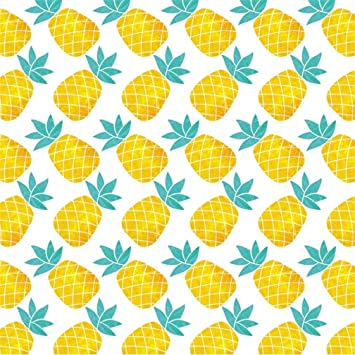 Fruit 10x6.5 FT Vinyl Photo Backdrops,Colorful Design of Summer Fruits Pineapple Watermelon and Apple with Zigzag Lines Background for Child Baby Shower Photo Studio Prop Photobooth Photoshoot