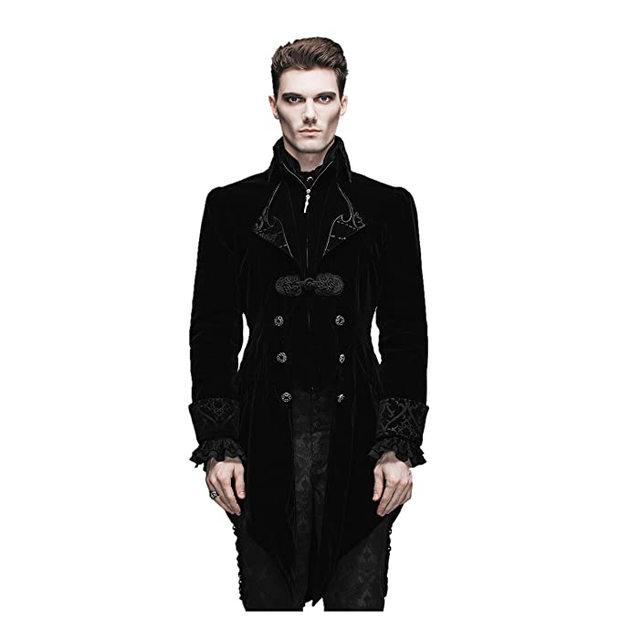 Amazon.com: Devil Fashion Gótico Vintage Swallow Tail Coat ...