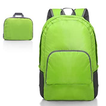 a751bfab47 Ultra Lightweight Portable Backpack Foldable Durable Travel Hiking Backpack  Daypack for Women Men(Green) Load 20L  Amazon.co.uk  Office Products
