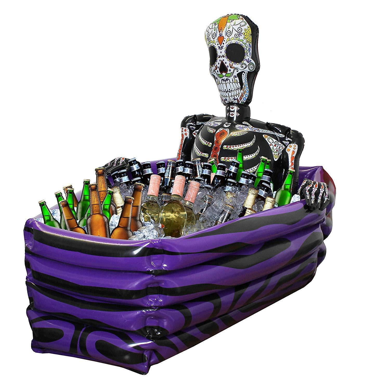Halloween Enfriador de Bebidas Hinchable Ataúd DÍA DE LOS MUERTOS ...