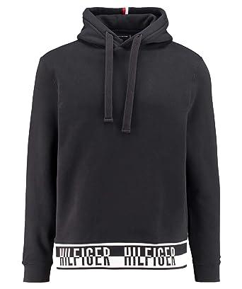 4f6fa4e6 Tommy Hilfiger Felpa Logo Rib Hoody MW0MW08879 Black Size:L: Amazon.co.uk:  Clothing