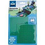 Plus-Plus 4022 12 x 12 cm Base Plate Duo Pack for Construction Design