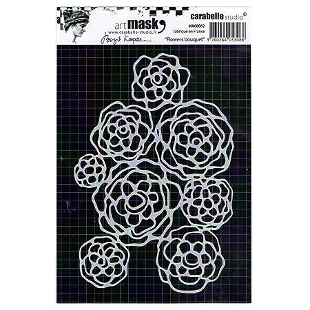 floral pattern per sfondi con motivi decorativi e progetti artistici per l/'hobbistica creativa Carabelle Studios Sagoma stencil di Carabelle Studio taglia unica