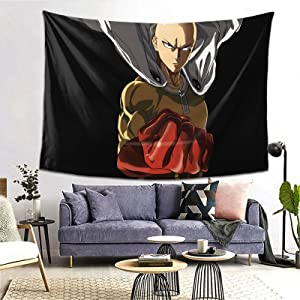 Saitama Tapestry Party Supplies Decoration Wall Hanging Decoration Beach Blanket Tablecloth Background Crafts Home Bedroom Living Room Dormitory Wall Party Decoration 80*60 inch