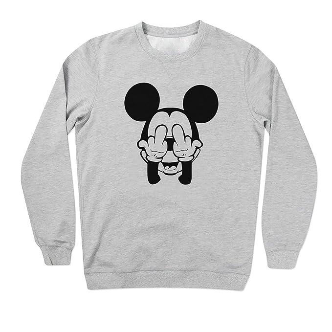Mickey Mouse Swag Trippy Disney Dope Fuck Gris Sudadera Unisex Medium: Amazon.es: Ropa y accesorios