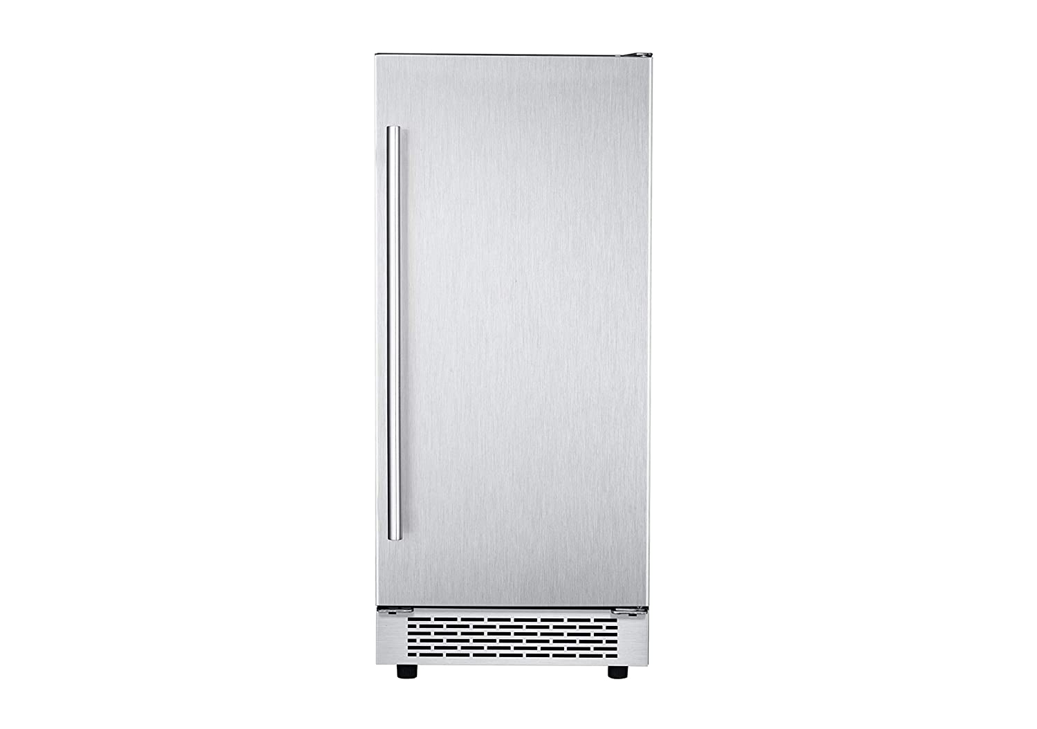 Hanover HIM60701-5SS The Vault 15 in. Stainless Steel Reversible Door and Touch Controls Undercounter Ice Maker, Pro-Handle
