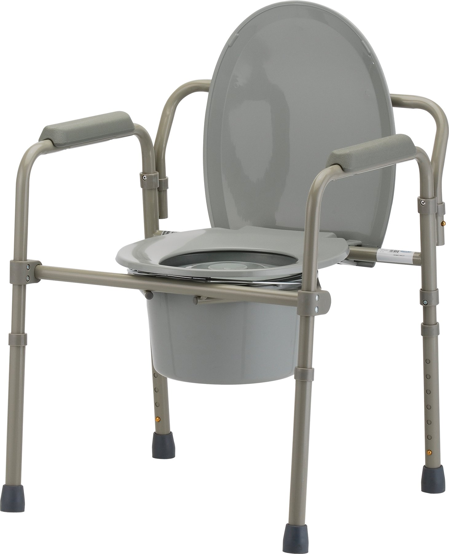 NOVA Folding Commode, Over Toilet and Bedside Commode, Comes with Splash Guard/Bucket/Lid by NOVA Medical Products