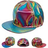 To the Future: Marty McFly Cap Rainbow Colorful Reflective Hat