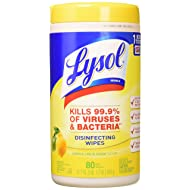Lysol Disinfecting Wipes, Lemon & Lime Blossom, 80ct (Pack of 3)
