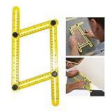 niceEshop(TM) Angleizer Template Tool,Angle Measure Ruler,Multi Angleizer Template Ruler for Builders or Engineer,Yellow+Black