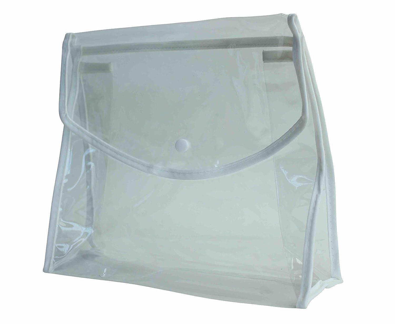 Bundle di chiaro PVC Bag con Clip magnetica per cosmetici e articoli da toeletta – 3 oggetti – accessorio da viaggio homeshop3000