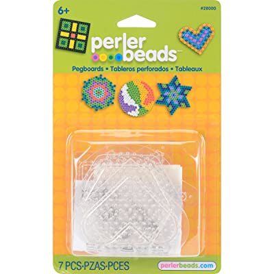 Perler Beads Basic Shapes Clear Pegboard Set, 7 pcs: Arts, Crafts & Sewing