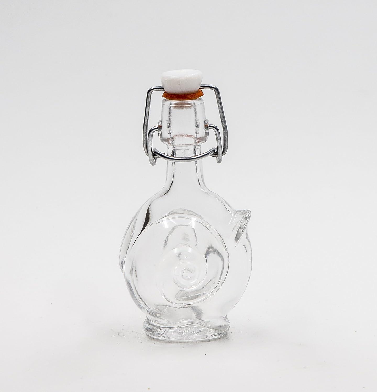 nr 1 glass bottle Little Snail 40 ml flint glass swing-top n°28 Covim
