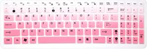 Keyboard Cover Skin for ASUS 15.6 inch F555 F554LA F556UA GL552VW K501UX K501LX K501UW GL502VY GL502VT/GL552VW GL752VW Q503UA Q524UQ/Q534UX Q552UB Q553UB/Q534UX X540SA X751LAV X550ZA (Ombre Pink)