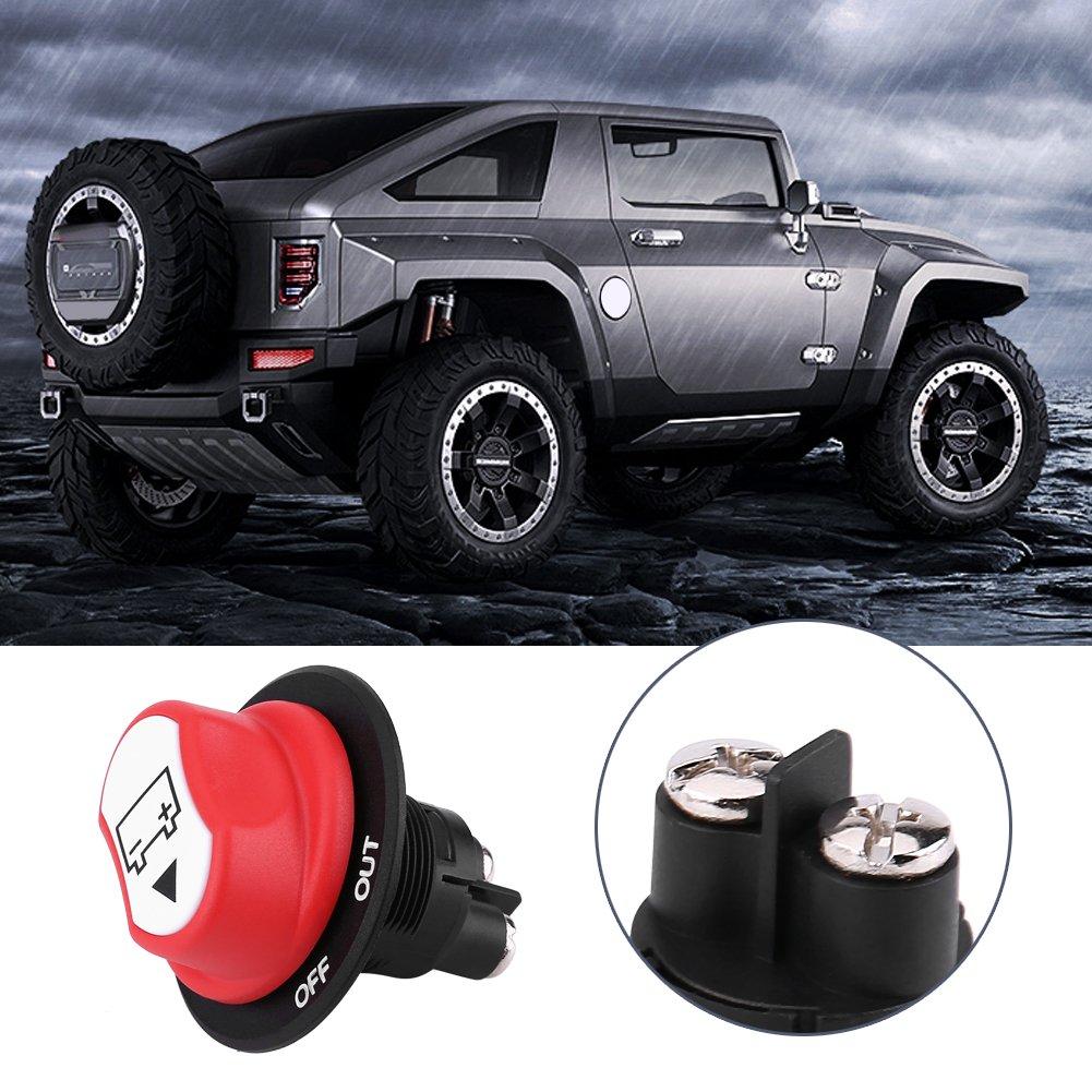 Keenso Batterie Trennschalter Wasserdichte Batterie Isolator Power Cut On//Off Schalter Max DC 50 V f/ür Marine Auto Boot RV ATV Fahrzeuge