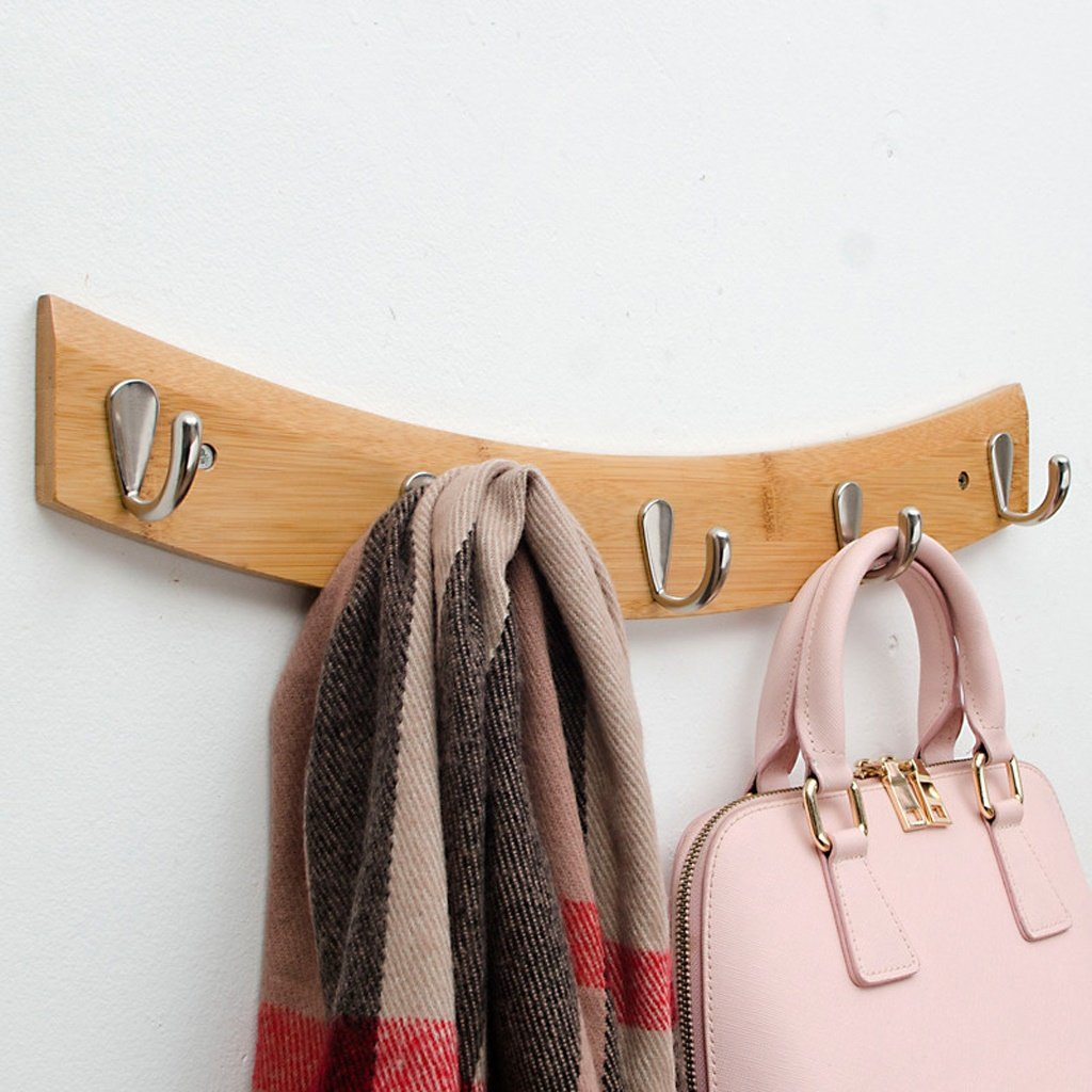 Edge to clothes hook Hook Solid Wood Creative Door Rear Wall Hanging Clothes Hanger Wall Hook Bathroom Kitchen Clothes Rack