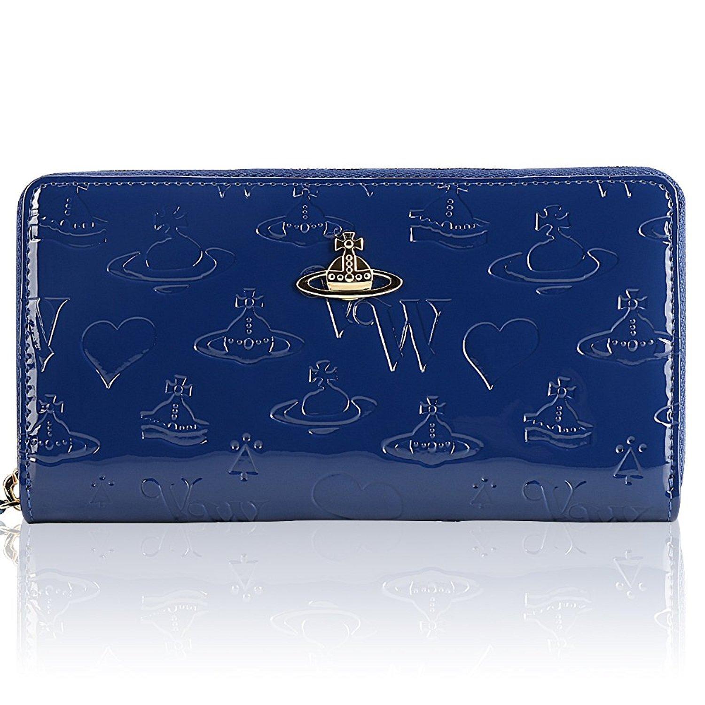 Vivienne Westwood ヴィヴィアンウエストウッド財布 長財布 55310 BLACK / RED/BLUE[並行輸入品] B07BBM2FWT ブルー ブルー