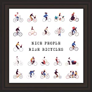 Mindful Grasshopper Bicycle Themed Gifts   Bike Decor for Home   Sports Prints   Bike Themed Gifts  Bicycle Art Decor  Bicycle Gifts   Gifts for Biking Enthusiasts   Cycling Art  Bicyclists Gifts