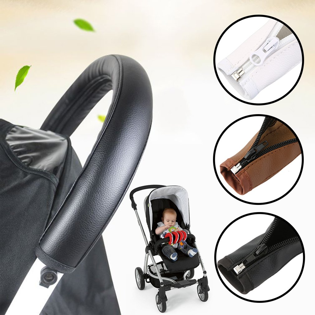 Naisidier Baby Pram Accessories Stroller Armrest PU Leather Case Cover For Arm Covers Baby Game Stroller accessories
