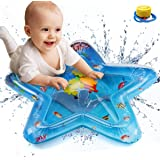 yangGradel Inflatable Water Play Mat Baby Inflatable Patted Water Play Pad Tummy Time Toy Baby Prostrate Water Filled Cushion Activity & Entertainment