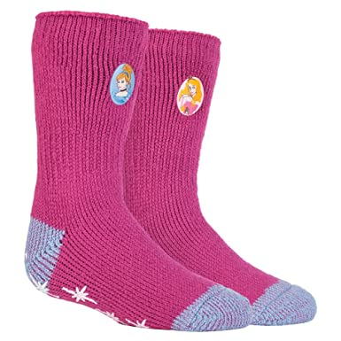 28307586b8c8b HEAT HOLDERS - les femmes et les filles Disney caractère chaussettes  antidérapantes thermiques chaussettes bouchon Dans