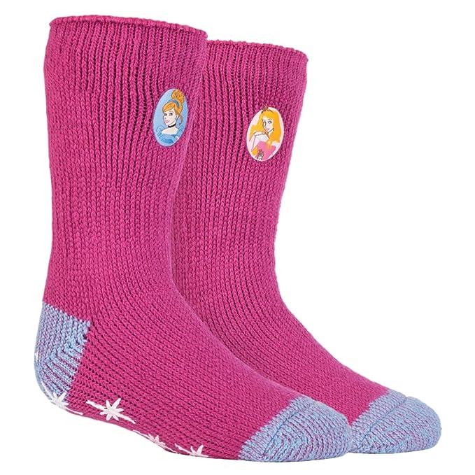 HEAT HOLDERS - Las mujer y niñas personajes de Disney térmica antideslizantes calcetines Calcetines tapón en 5 Diseños: Amazon.es: Ropa y accesorios