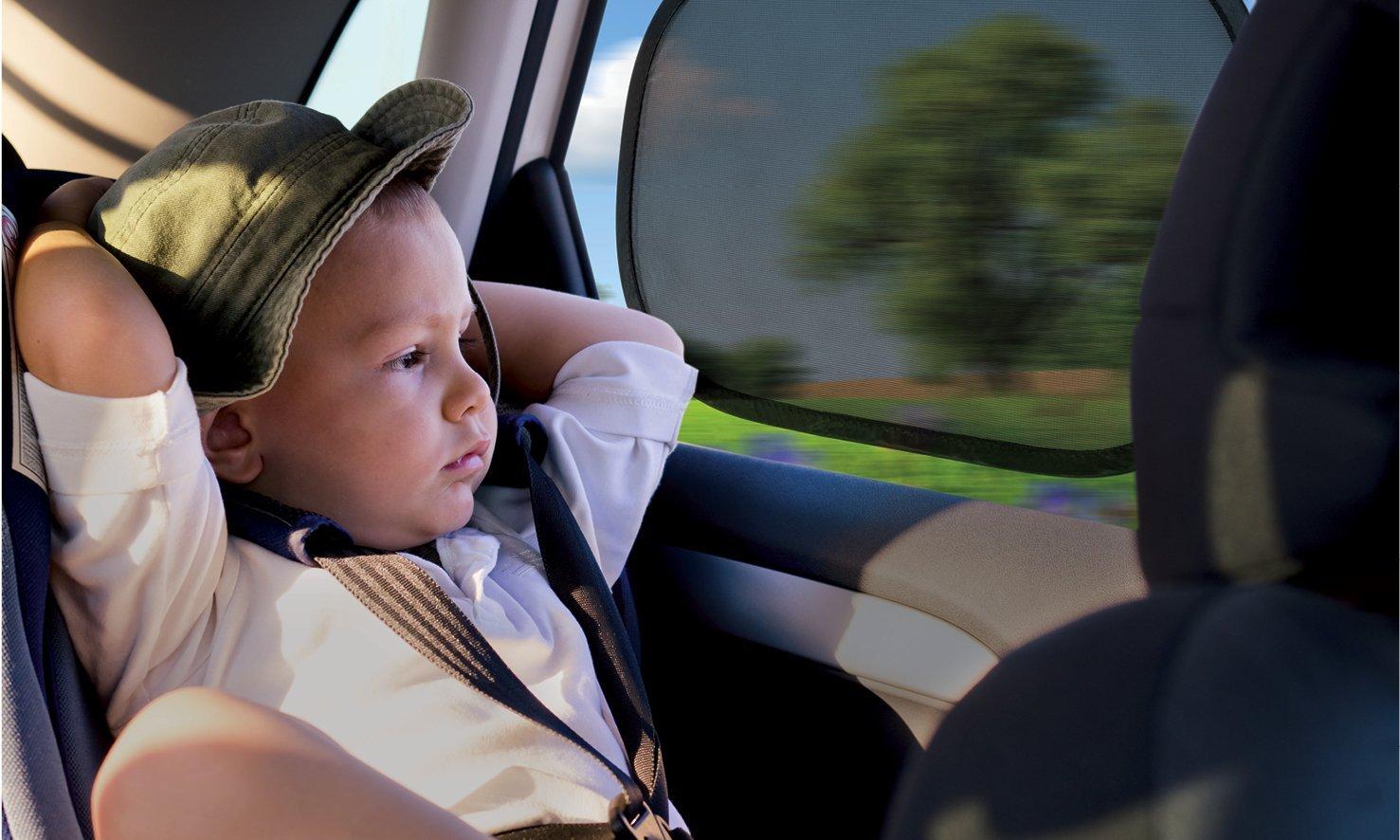 """H/öchstm/öglicher Zus/ätzlich mit 4 Saugern bietet guten Sonnenschutz im Auto Ba Lina M./® selbsthaftende Sonnenblende Gr/ö/ße: 48 x 30 cm gepr/üfter UV-Schutz UPF80+/"""" f/ür Kinder und Babys F/ür Kindersitze"""