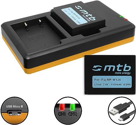 2 Batteries + Double Chargeur (USB) pour NP W126(S) Fujifilm X A1, A2, A3, A10 X E1, E2(S), M1, Pro1, Pro2, T2, T10, T20 HS30EXR </p>                 <!--bof Quantity Discounts table -->                                 <!--eof Quantity Discounts table -->                  <!--bof Product URL -->                                 <!--eof Product URL -->             </div>             <div id=