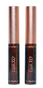 Eyelash Adhesive Glue_2 BOTTLES_Black lash glue Brush on LATEX FREE, VITAMIN E, Waterproof_Premium Quality, Long Lasting Formula Cruelty-Free, Vegan Glue - Compare to House of Lashes, Black Lash Glue