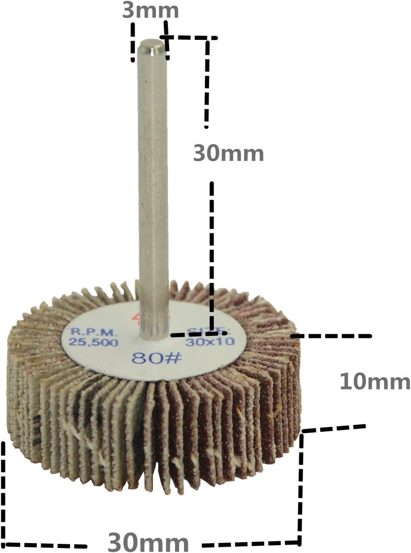 pour outils rotatifs Dremel 30X10X3 grain 60 Hengzhe 12x pon/çage de disque de roue /à poncer abrasif