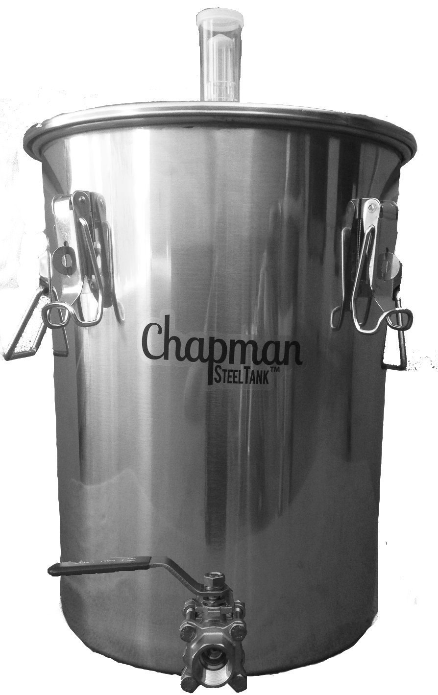 Chapman Brewing Equipment 7 Gallon Stainless Steel PORTED UniVessel Brew Fermenter Combo, Includes 8oz B-Brite Cleaner!