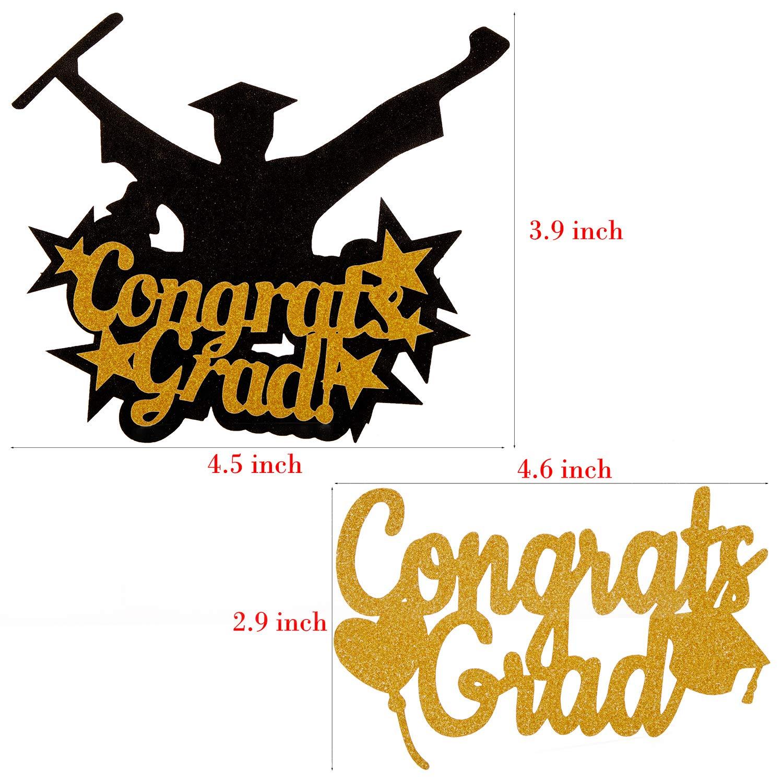 3pcs Congrats Grads Cupcake Toppers Picks- Photo Props 2019 Grad Decor for Kids Gift Graduation Party Decorations Supplies 30pcs Graduation Hanging Swirls IM DONE CONGRATS Bunting Banner Garland