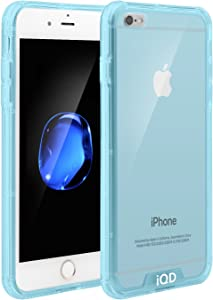 iPhone 6 Plus Case,iPhone 6s Plus Case,IQD Protective Cases Reinforced TPU Bumper Case Cushion Scratch Resistant Hybrid Cover for Apple iPhone 6 PLUS/6S Plus (5.5-inch) - Blue