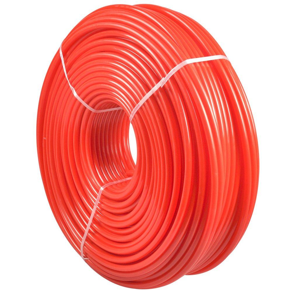 Pex Tubing , AceFox 1/2'' 1000ft O2 Oxygen Barrier Radiant Floor Heat Pex-B Red