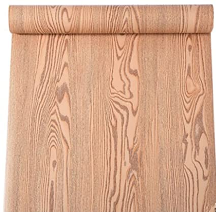 Self Adhesive Wood Grain Furniture Stickers Pvc Wallpaper Cabinets Gloss Film Vinyl Counter Top Decal 24inch By 78inch Red Curved Wood