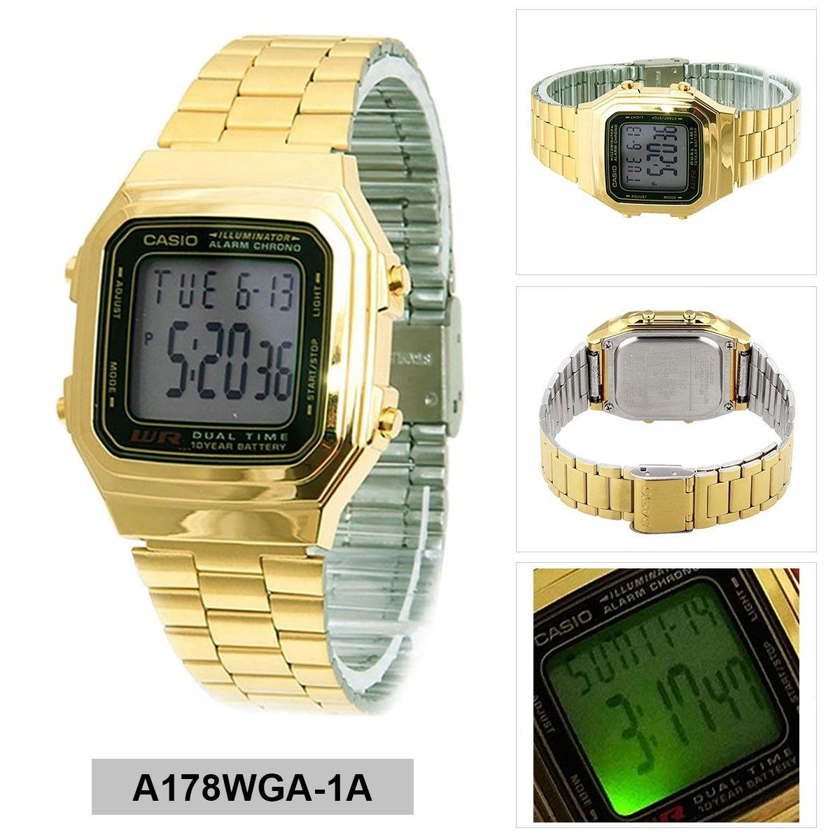 Casio Watch A178WGA1A (Size: men): Amazon.es: Relojes