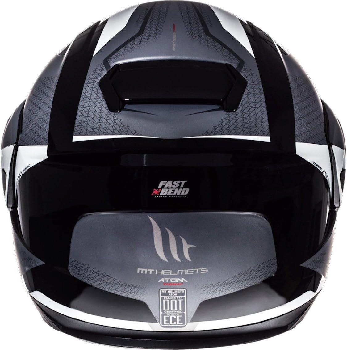 MT Atom SV Asfalto Tapa Frontal para Casco de Moto