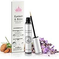 Natural Eyelash & Brow Growth Serum Booster Gives You Longer Natural Thicker Looking Eyelashes & Eyebrows   Conditions Repairs & Stimulates Healthy New Eyelash Growth & Eyebrow Growth