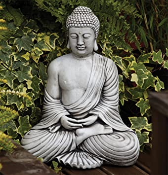 Large Garden Ornaments Serene Thai Stone Buddha Statue Amazon